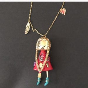 Swarovski Crystal Polly Doll Necklace